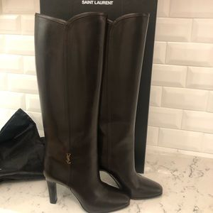 YSL Jane Leather Boots
